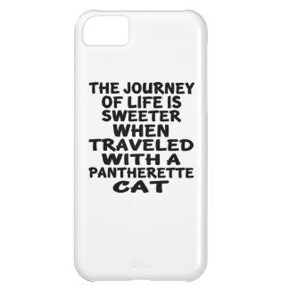 Capa Para iPhone 5C Viajado com gato de Pantherette