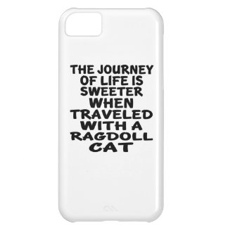 Capa Para iPhone 5C Viajado com gato de Ragdoll