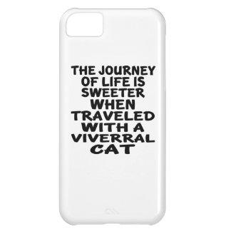 Capa Para iPhone 5C Viajado com gato de Viverral