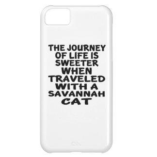 Capa Para iPhone 5C Viajado com gato do savana