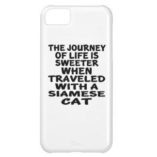 Capa Para iPhone 5C Viajado com gato Siamese