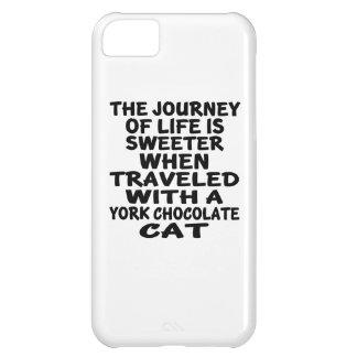 Capa Para iPhone 5C Viajado com o gato do chocolate de York