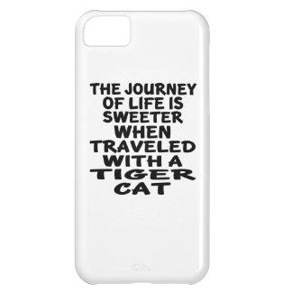 Capa Para iPhone 5C Viajado com o gato do gato de tigre