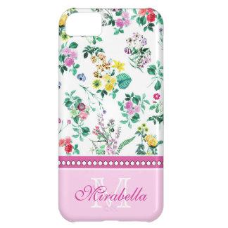 Capa Para iPhone 5C Wildflowers & rosas amarelos vermelhos roxos