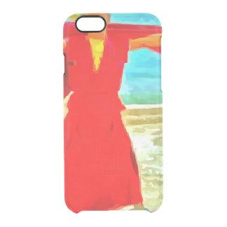 Capa Para iPhone 6/6S Transparente A monge super do ajustado no vermelho