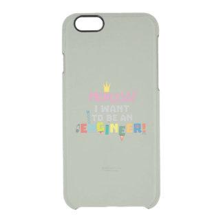 Capa Para iPhone 6/6S Transparente A princesa Eu quer ser um Engnineer Z2yb2