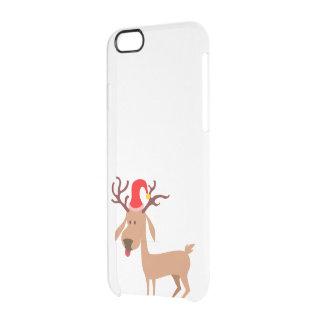 Capa Para iPhone 6/6S Transparente Alegria dos feriados do Natal da rena