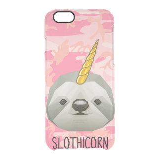 Capa Para iPhone 6/6S Transparente Amor engraçado do animal de Meme do unicórnio de
