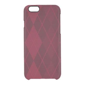 Capa Para iPhone 6/6S Transparente Argyle vermelho