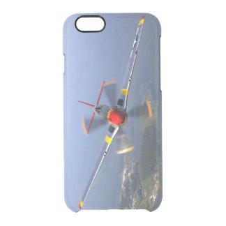 Capa Para iPhone 6/6S Transparente Aviões de lutador do mustang P-51