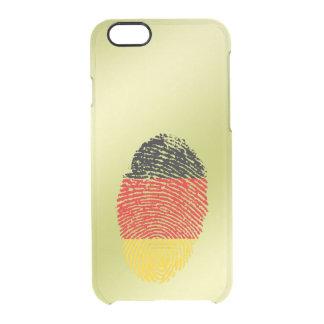 Capa Para iPhone 6/6S Transparente Bandeira alemão da impressão digital do toque