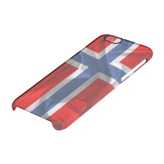 Capa Para iPhone 6/6S Transparente Bandeira de ondulação norueguesa