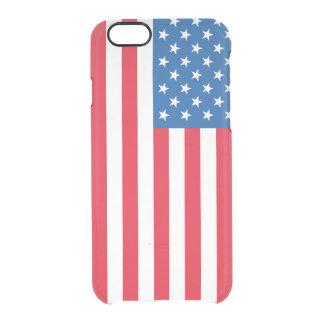 Capa Para iPhone 6/6S Transparente Bandeira dos Estados Unidos da bandeira dos EUA