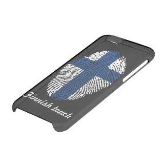 Capa Para iPhone 6/6S Transparente Bandeira finlandesa da impressão digital do toque
