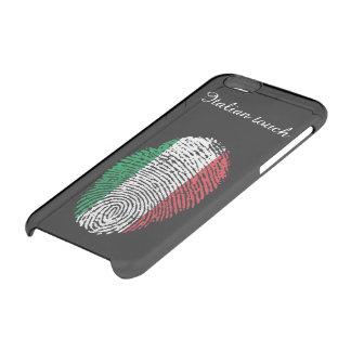 Capa Para iPhone 6/6S Transparente Bandeira italiana da impressão digital do toque