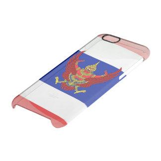 Capa Para iPhone 6/6S Transparente Bandeira lustrosa de Tailândia