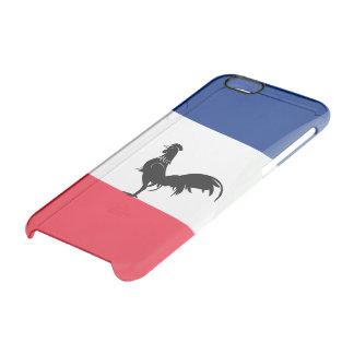 Capa Para iPhone 6/6S Transparente Bandeira lustrosa francesa
