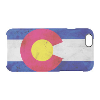Capa Para iPhone 6/6S Transparente Bandeira patriótica do estado de Colorado do