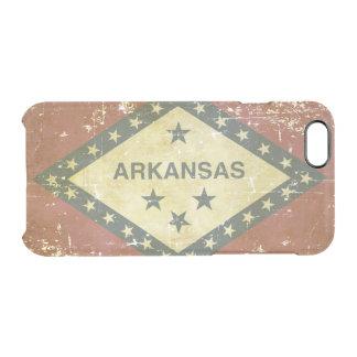 Capa Para iPhone 6/6S Transparente Bandeira patriótica gasta do estado de Arkansas