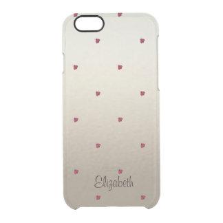 Capa Para iPhone 6/6S Transparente Bonitos adorável, joaninhas,