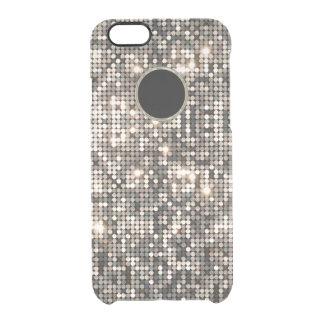 Capa Para iPhone 6/6S Transparente Brilho do disco & fundo de prata elegantes GR2
