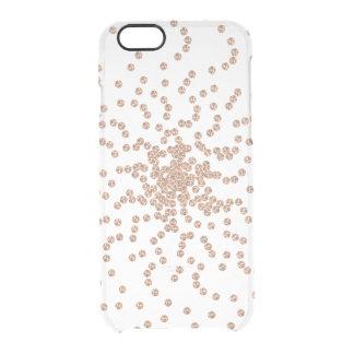 Capa Para iPhone 6/6S Transparente Caixa cor-de-rosa de Gemmes dos cristais de