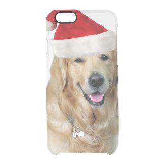 Capa Para iPhone 6/6S Transparente Cão-animal de estimação do cão-papai noel de claus