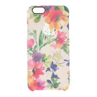 Capa Para iPhone 6/6S Transparente Caso floral do iPhone 6 da aguarela, caso do