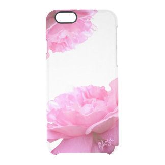 Capa Para iPhone 6/6S Transparente Caso transparente do iPhone 6/6s do rosa elegante