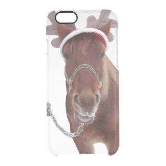 Capa Para iPhone 6/6S Transparente Cervos do cavalo - cavalo do Natal - cavalo