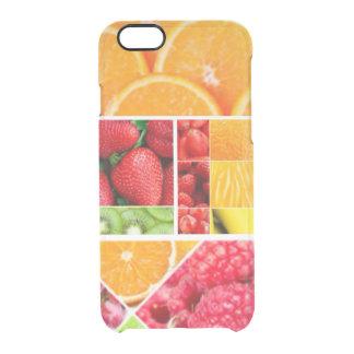 Capa Para iPhone 6/6S Transparente Colagem da fruta da mistura