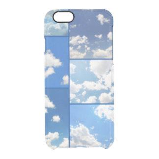 Capa Para iPhone 6/6S Transparente Colagem dos céus azuis & das nuvens do branco