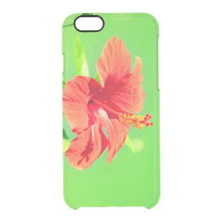 Capa Para iPhone 6/6S Transparente coleção floral. Hibiscus