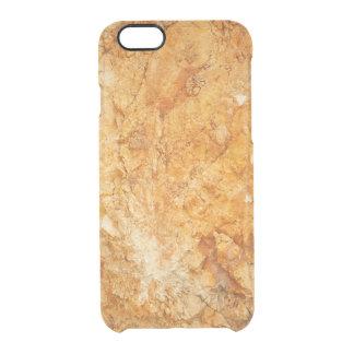 Capa Para iPhone 6/6S Transparente coleção natural. rocha dourada. Piscina