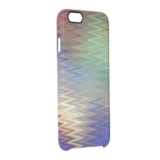 Capa Para iPhone 6/6S Transparente Colora a caixa clara do iPhone 6/6S do ziguezague