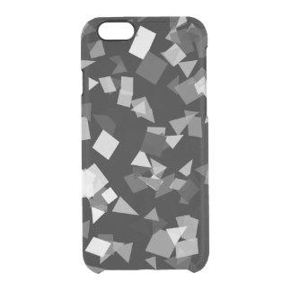 Capa Para iPhone 6/6S Transparente Confetes preto e branco