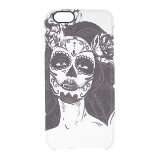 Capa Para iPhone 6/6S Transparente Crânio gótico