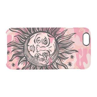 Capa Para iPhone 6/6S Transparente Cresent Sun e design feminino da astronomia da