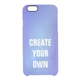 Capa Para iPhone 6/6S Transparente Criar sua própria pintura azul da aguarela