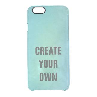 Capa Para iPhone 6/6S Transparente Criar sua própria pintura da aguarela de turquesa
