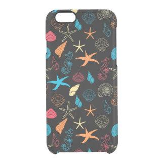 Capa Para iPhone 6/6S Transparente Criaturas coloridas do mar