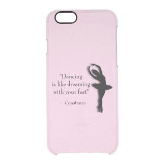Capa Para iPhone 6/6S Transparente Dança inspirador