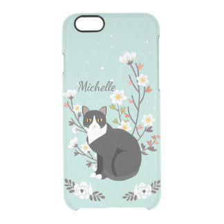 Capa Para iPhone 6/6S Transparente Defletor bonito de Clearly™ do iPhone 6 do gato do