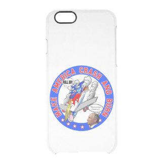 Capa Para iPhone 6/6S Transparente Faça América deixar de funcionar & queimar-se