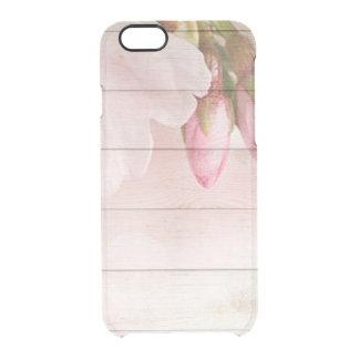 Capa Para iPhone 6/6S Transparente Flor de cerejeira