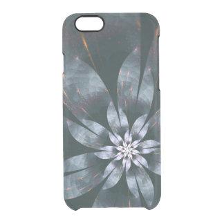Capa Para iPhone 6/6S Transparente Flor do metal