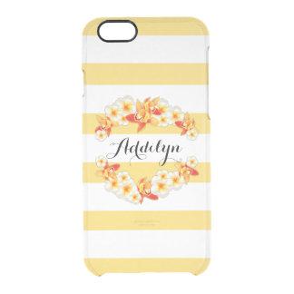 Capa Para iPhone 6/6S Transparente Flores da orquídea e do Plumeria, elegantes