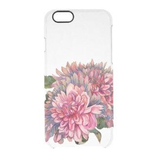 Capa Para iPhone 6/6S Transparente flores das dálias