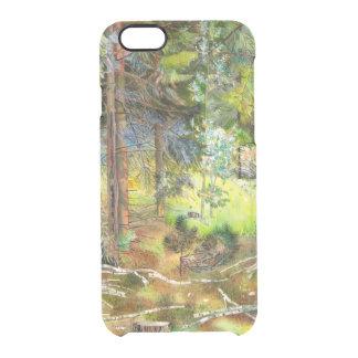 Capa Para iPhone 6/6S Transparente Floresta do pinho