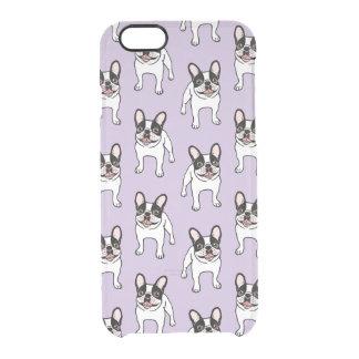 Capa Para iPhone 6/6S Transparente Frenchie Pied encapuçado dobro feliz